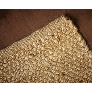Hand-woven Orta Natural Jute Area Rug (8' x 10')