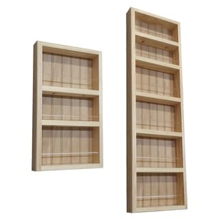 Pine Wood 2-piece 48-inch/ 19-inch On-the-wall Spice Rack II