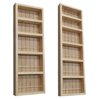 Pine Wood 2-piece 48-inch/ 30.75-inch On-the-wall Spice Rack II
