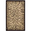 Dimensions Ivory/ Black Wool Area Rug (3'6 x 5'6)