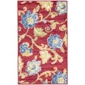 Waverly Aura Of Flora Lipstick Red Area Rug (7'9 x 9'9)