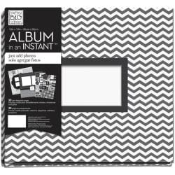 Me & My Big Ideas 12' X12 Complete Album - Black And White Dream Big