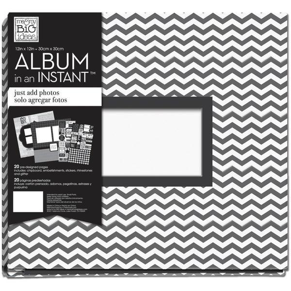 Me & My Big Ideas 12' X12 Complete Album - Black And White Dream Big