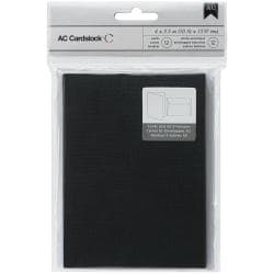 American Crafts A2 Cards & Envelopes (4.375 X5.75 ) 12/Pkg - Black