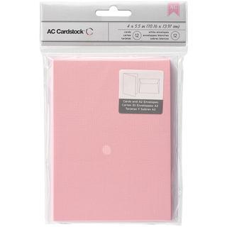 Cards & Envelopes A2 (4.375 X5.75 ) 12/Pkg - Blush