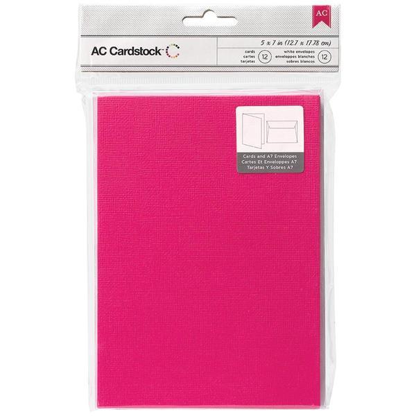 American Crafts A7 Cards & Envelopes (5.25 X7.25 ) 12/Pkg - Taffy