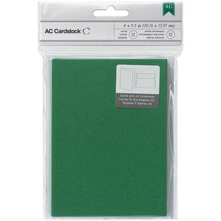 Cards & Envelopes A2 (4.375 X5.75 ) 12/Pkg - Evergreen