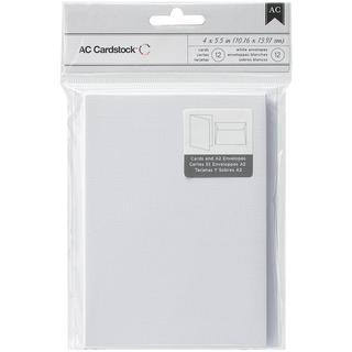 Cards & Envelopes A2 (4.375 X5.75 ) 12/Pkg - White