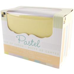 Box Of Cards & Envelopes A2 Size - Pastel Texture 40/Pkg