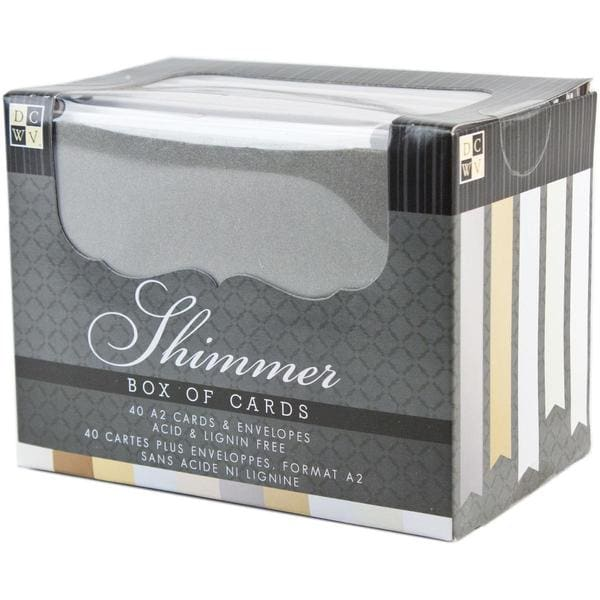 Box Of Cards & Envelopes A2 Size - Natural Shimmer 40/Pkg