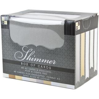Box Of Cards & Envelopes A2 Size - Natural Shimmer 40/Pkg