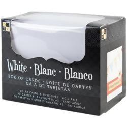 Box Of Cards & Envelopes A2 Size - White Texture 50/Pkg