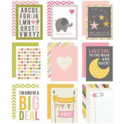 Baby Girl Sn@p! Double-Sided Card Pack 3 X4 48/Pkg -