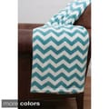 Classic Chevron Fleece Throw Blanket