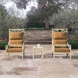 Sirio Caesar 3-piece High-back Chairs and Side Table Set