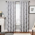 Loren Embroidered Rod Pocket Curtain Panel