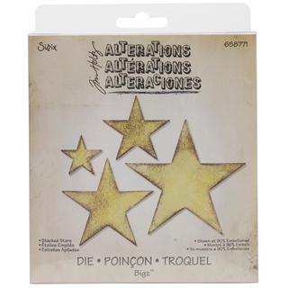 Sizzix Bigz Die By Tim Holtz 5.5 X6 - Stacked Stars