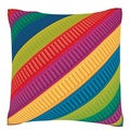 Colorful Ribbons 18-inch Velour Throw Pillow