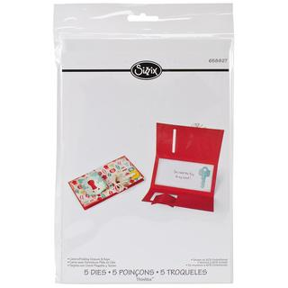 Sizzix Thinlits Dies 5/Pkg - Card/Folding Closure & Keys