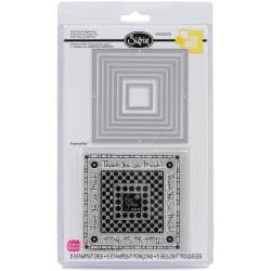 Sizzix Framelits Dies 7/Pkg W/Clear Stamps - For You & Thank You