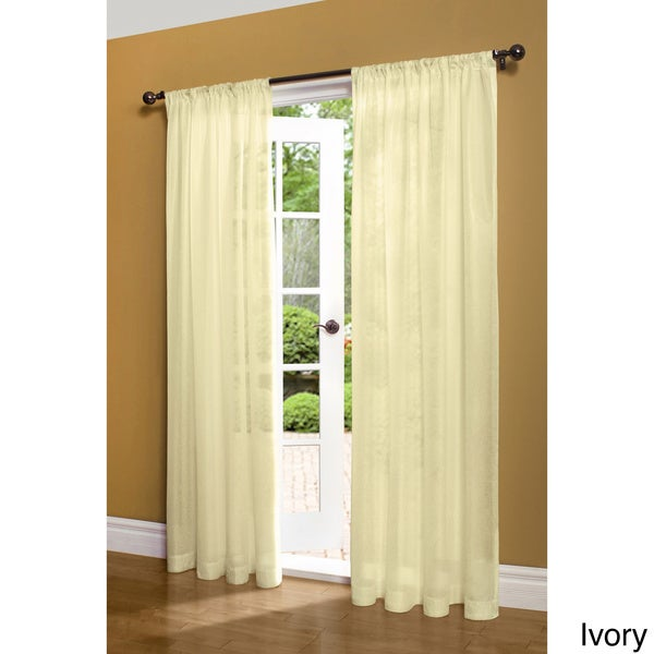 Weathershield Insulated Energy-saving Sheer 84inch Curtain Panel