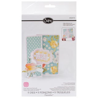 Sizzix Framelits Dies 11/Pkg - Fancy Frame #2 Flip-Its Card