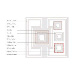 Sizzix Framelits Dies 12/Pkg - Square #2 Flip-Its Card