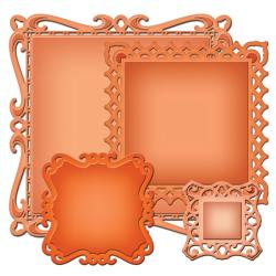 Spellbinders Nestabilities Decorative Elements Dies - Captivating Squares