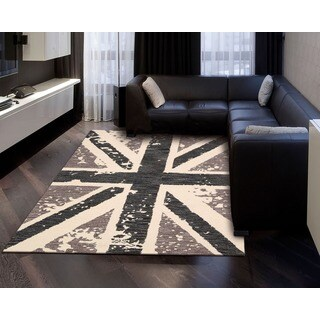 Hand-tufted Siam Charcoal Grey Wool Area Rug (3'6 x 5'6)