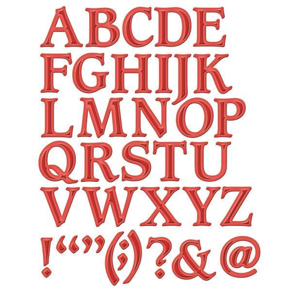 Spellbinders Shapeabilities Dies - Font 1 Uppercase