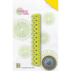 Nellie's Choice Folding Dies - Sharp Point Rosette, 4 X6.25