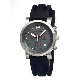 Breed Men's 'Manning' Charcoal Dial Black Silicone Analog Watch
