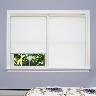 Premium White Wood Look Roller Window Shade