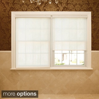 Premium Single-roller Cream Fabric Window Shade