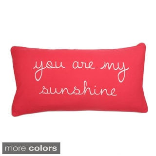 'You are My Sunshine' Down Fill Rectangular Pillow