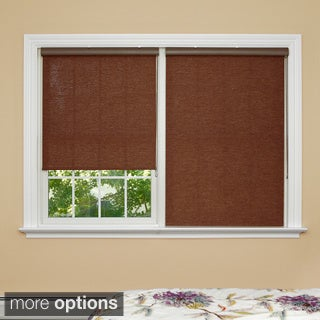 Premium Brown Wood Look Roller Window Shade