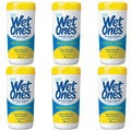 Wet Ones Citrus Antibacterial Hand and Face Wipes Canister (Pack of 6)