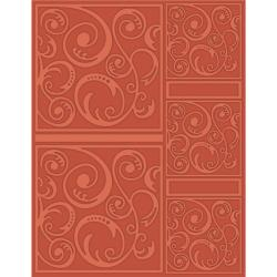 eBosser Embossing Folders Letter Size - Swirltangle