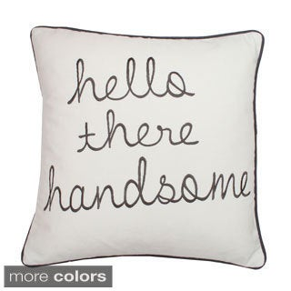 Hello Handsome Decorative Square Pillow