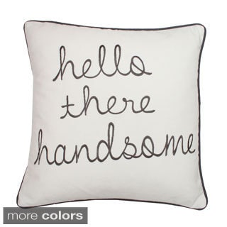 Hello Handsome Decorative Down Filled Square Pillow
