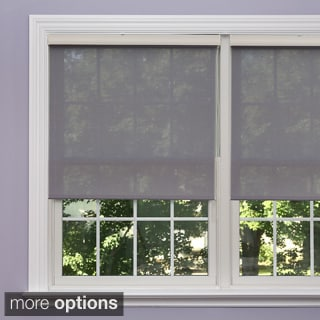 Premium Grey Linen Look Roller Window Shade