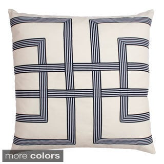 Leeza Ribbon Decorative Down Filled Square Pillow