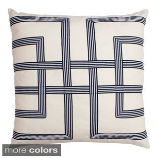 Leeza Ribbon Decorative Square Pillow