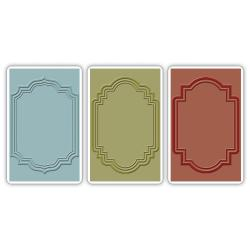 Sizzix Texture Trades A2 Embossing Folders 3/Pkg - Outline Labels By Tim Holtz