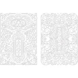 Spellbinders M-Bossabilities A4 Card Embossing Folder - Decorative Fancy Tags 2
