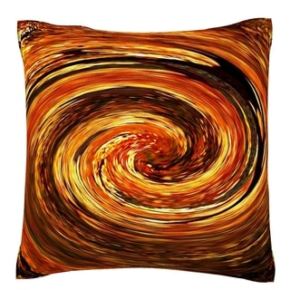 Swirling Autumn Leaves 18-inch Velour Throw Pillow