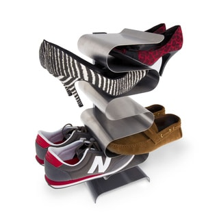 j-me Nest 7-pair Stainless Steel Shoe Rack