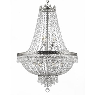 Gallery 9-light Silver/ Empire Crystal Chandelier