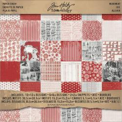 Idea-Ology Paper Stash Paper Pad 12 X12 20/Sheets - Double-Sided Merriment