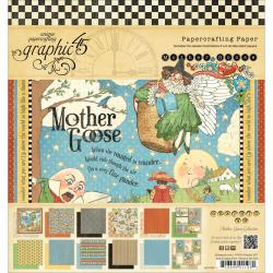 Mother Goose Double-Sided Paper Pad 8 X8 - 24 Sheets -12 Designs/2 Each